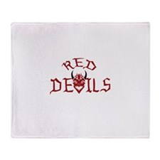 RED DEVILS Throw Blanket