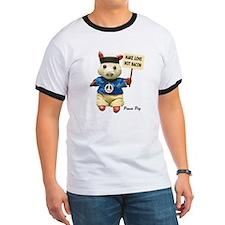 Peace Pig men's ringer t-shirt