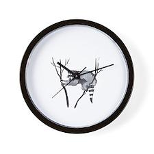 RACCOON IN TREE Wall Clock