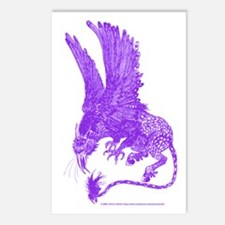 Hippogriff (Purple) Postcards (Package of 8)