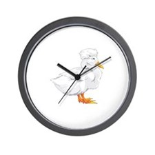 CRESTED DUCK Wall Clock