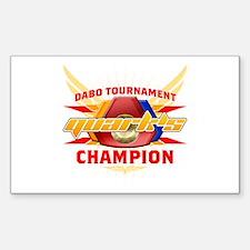 Quark's Dabo Champion Rectangle Decal