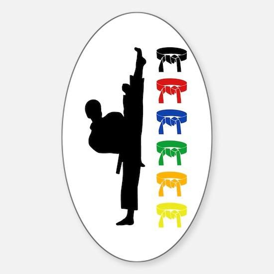 Martial Arts Kids Sticker (Oval)