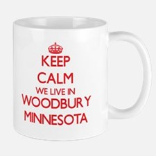 Keep calm we live in Woodbury Minnesota Mugs