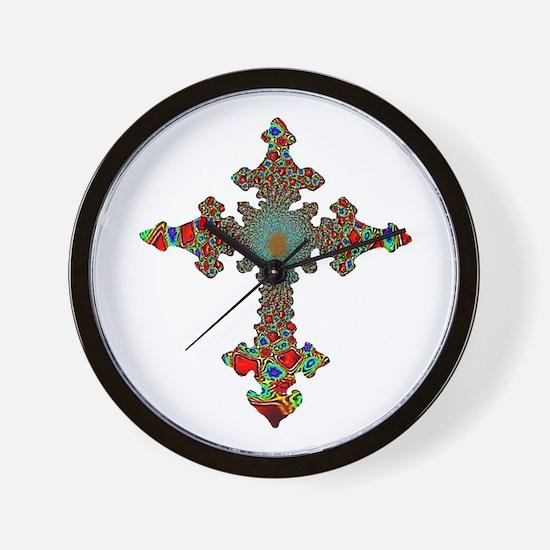 Jewel Cross Wall Clock
