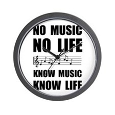 Know Music Know Life Wall Clock