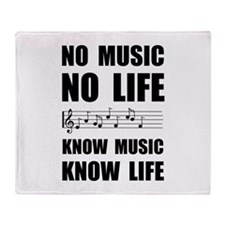 Know Music Know Life Throw Blanket
