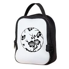 Plum branch circle Neoprene Lunch Bag