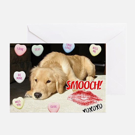 Valentines Day Golden Retriever Greeting Cards
