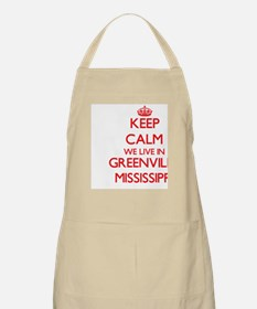 Keep calm we live in Greenville Mississippi Apron