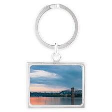 Roebling Suspension Sunset Landscape Keychain