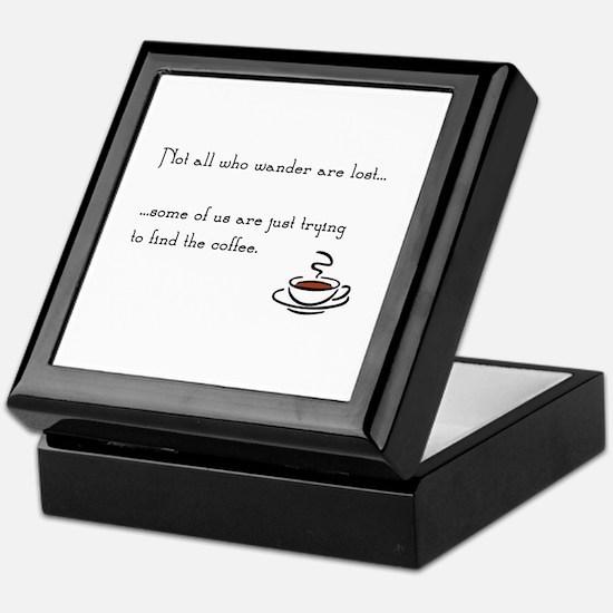 Wandering for Coffee Keepsake Box
