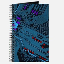 Blue Circuit Board Journal
