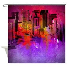 Sheer City Shower Curtain