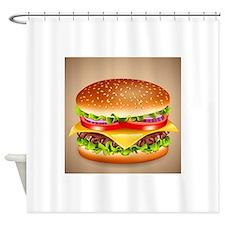 Hamburger Shower Curtain