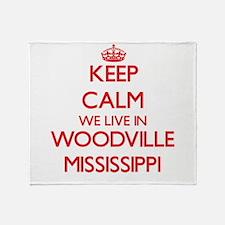 Keep calm we live in Woodville Missi Throw Blanket