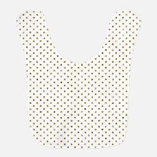Gold Glitter Effect Polka Dots Bib