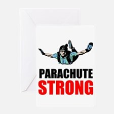 Parachute Strong Greeting Cards