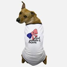 Red White & Bows Dog T-Shirt