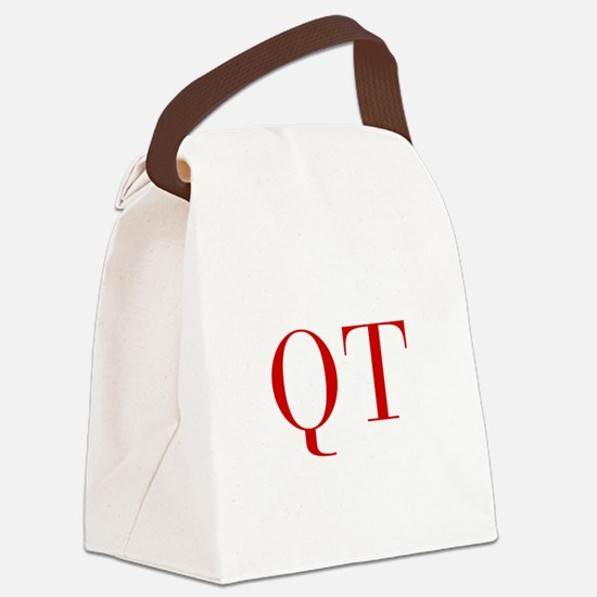 QT-bod red2 Canvas Lunch Bag
