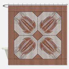 Trilobite Tile Shower Curtain