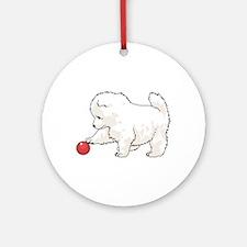 SAMOYED PUPPY Ornament (Round)