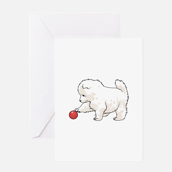 SAMOYED PUPPY Greeting Cards