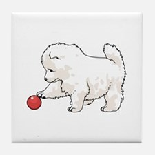 SAMOYED PUPPY Tile Coaster