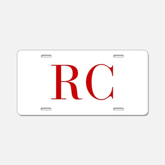 RC-bod red2 Aluminum License Plate
