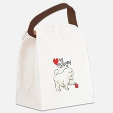 LOVE MY SAMOYED Canvas Lunch Bag