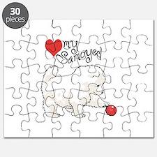 LOVE MY SAMOYED Puzzle