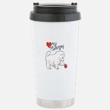 LOVE MY SAMOYED Travel Mug