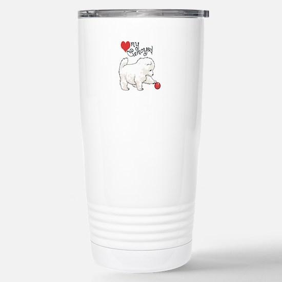 LOVE MY SAMOYED Travel Mug