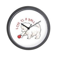 LIFE IS A BALL Wall Clock