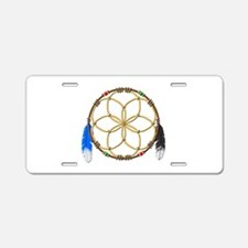 Seed of Life Aluminum License Plate