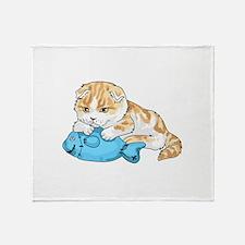 SCOTTISH FOLD CAT Throw Blanket
