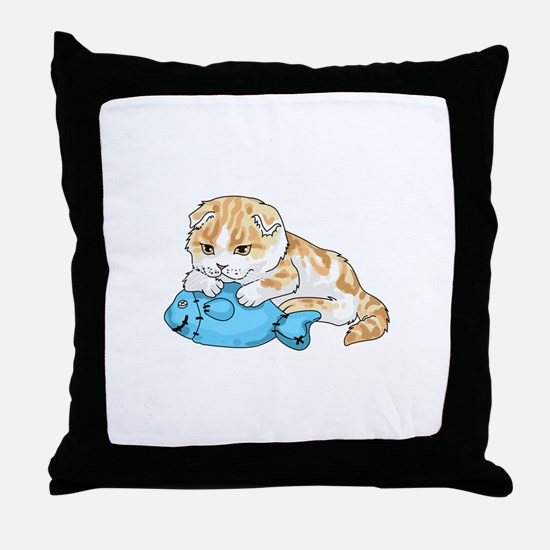 SCOTTISH FOLD CAT Throw Pillow