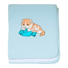 SCOTTISH FOLD CAT baby blanket