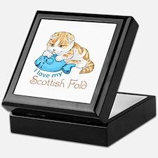 LOVE MY SCOTTISH FOLD Keepsake Box