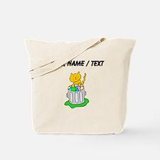 Custom Cat In Garbage Tote Bag