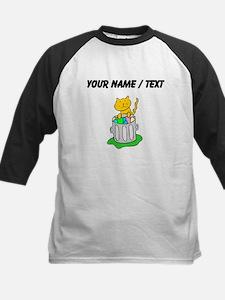Custom Cat In Garbage Baseball Jersey