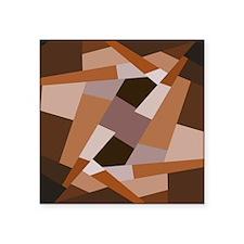 Brown Pattern, Geometric Shapes Sticker