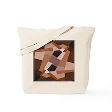 Brown Pattern, Geometric Shapes Tote Bag