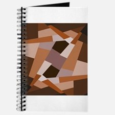 Brown Pattern, Geometric Shapes Journal