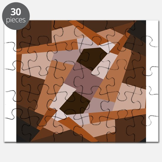 Brown Pattern, Geometric Shapes Puzzle