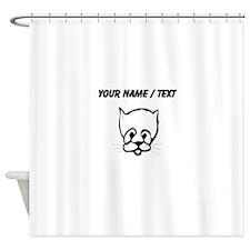 Custom Cat Face Shower Curtain