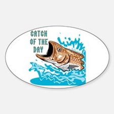 Catch Of The Day 2 Oval Decal