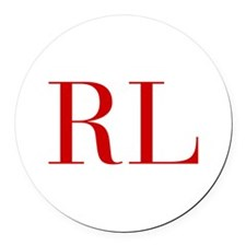 RL-bod red2 Round Car Magnet