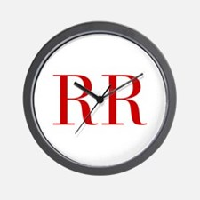 RR-bod red2 Wall Clock
