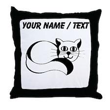 Custom Happy Cat Throw Pillow